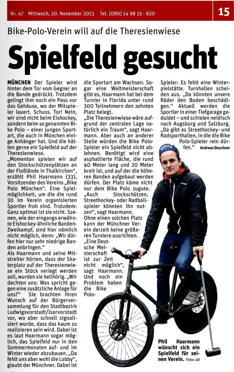 Hallo München bikepolo